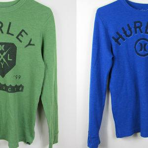 Hurley Long Sleeve Thermal Tops Sz Small Mens